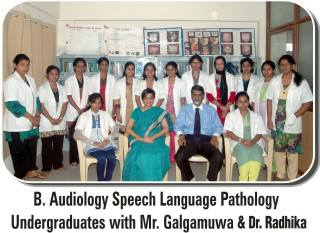 special medical degree -BASLP dr in audiology speech language pathology